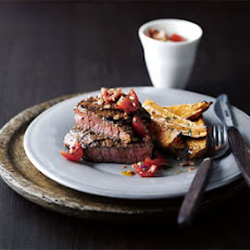 Chargrilled Steak With Sweet Potatoes & Salsa