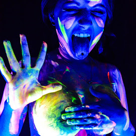 black light paint by David Lackey - People Body Art/Tattoos ( paint, black light )