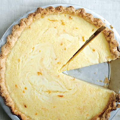 Lemon Buttermilk Pie with Saffron