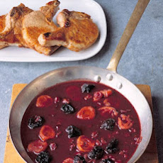 Pork Chops with Red-Wine Sauce