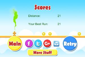 Screenshot of Green Cloud Runner - Free