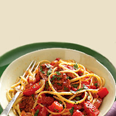 Sausage Ragout with Linguine