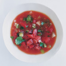 Tomato and Tomatillo Gazpacho