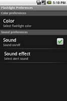 Screenshot of Flashlight & Alarm light