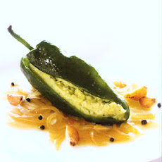 Stuffed Poblano Chiles with Avocado and Potatoes