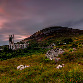 Dunlewey Church and Mount Errigal by Alnor Prieto - Landscapes Mountains & Hills