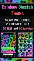 Screenshot of GO SMS Rainbow Cheetah Theme