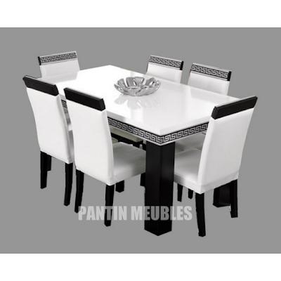 acheter table manger versace pantin chez pantin meubles dilengo. Black Bedroom Furniture Sets. Home Design Ideas