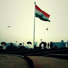 Indian Flag by Rohan Gupta - City,  Street & Park  City Parks ( cp, flag, tri color, park, indian, india, central park, indian flag )