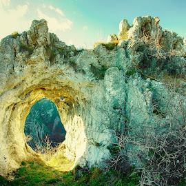 The Ring by Costin Mugurel - Nature Up Close Rock & Stone ( limestone, mountain, sunset, stone, rocks )