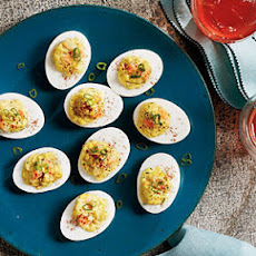 Shrimp Rémoulade Deviled Eggs