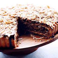 Honey-Pecan Tart with Chocolate Glaze