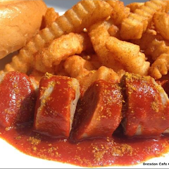 Currywurst with Baked Fries