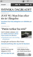 Screenshot of News and magazines Sweden