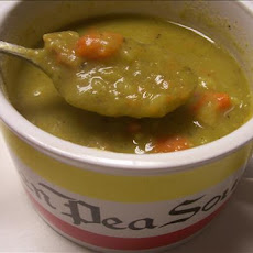 Leftover Holiday Ham & Split Pea Soup