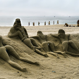 Sand Ladies by Susana Montironi - Landscapes Beaches ( sand creations, sea, beach,  )