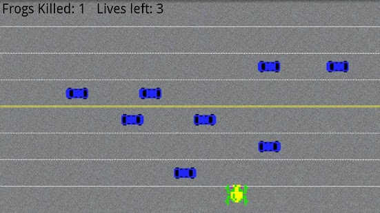 Reverse Frogger - screenshot