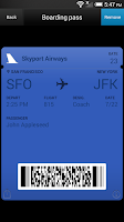 Screenshot of Pass2U Passbook for Android