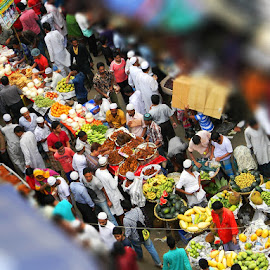 Fruit Market in Ramadan by Robin Mahmud - City,  Street & Park  Markets & Shops ( market, fruits, festival, bazar, people, ramadan )