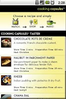 Screenshot of Cooking Capsules Taster