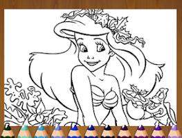 Screenshot of Princess  Mermaid Coloring