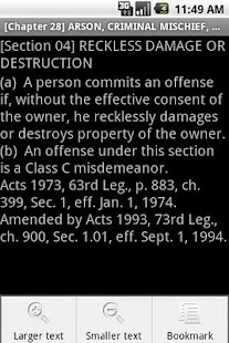 Texas Penal Code - screenshot