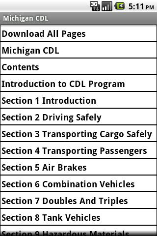 Michigan CDL Manual