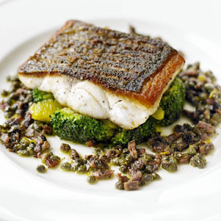Pan-fried Sea Bass With Citrus-dressed Broccoli
