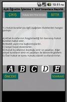 Screenshot of AOF İşletme Sınavlara Hazırlık