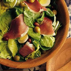 Green Salad with Serrano Ham and Tomato Vinaigrette
