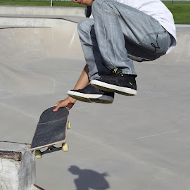Jump Up by Shawn Taylor - Sports & Fitness Skateboarding ( skateboarding, stop, skate, guy, skateboard, jump )