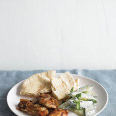 Marinated Chicken with Cucumber-Mint Salad