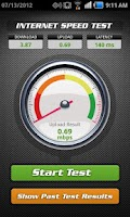 Screenshot of Internet Speed Test