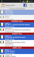 Screenshot of Calendario Feriados Mexico