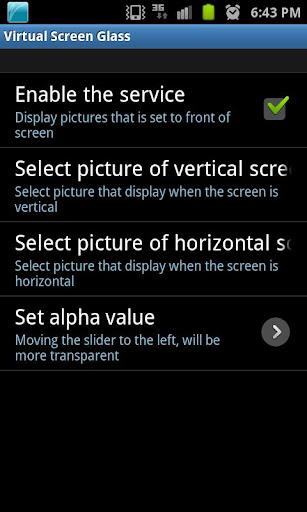 Virtual Screen Glass
