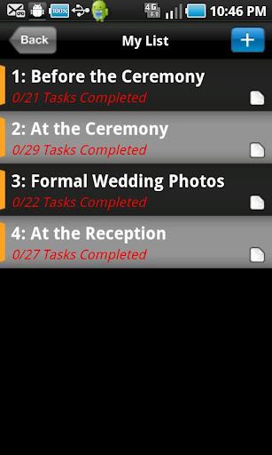 WEDDING PICTURES PLANNER
