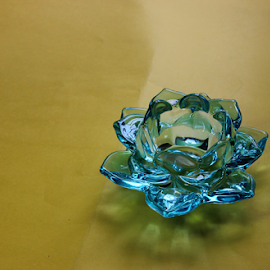 Glass lotus by Hemang Shukla - Artistic Objects Glass