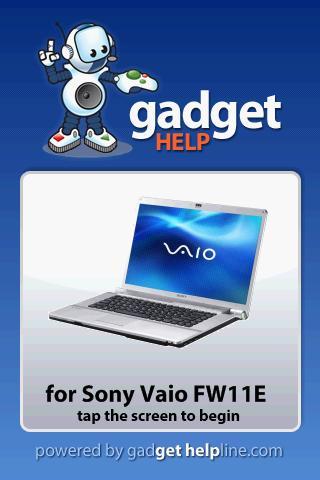 Sony Vaio FW11E - Gadget Help