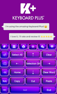 Keyboard Plus Violet Theme - screenshot