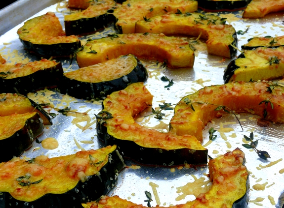 Parmesan-Roasted Acorn Squash Recipe | Yummly
