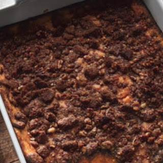 Sweet Potato Pudding with Pecan and Gingersnap Topping