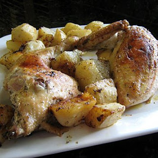 Roasted Chicken Quarters with Lemon and Garlic