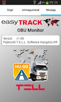 Screenshot of easyTRACK OBU Monitor
