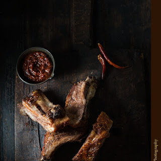 Pork Ribs with Spicy Chili Adobo Sauce