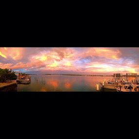Johns Pass, Florida  by Sean Kushmick - Landscapes Waterscapes ( colors, sunset, florida, tampa, boat )