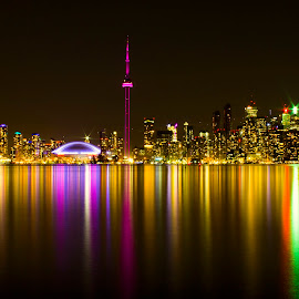 Toronto Nightscape by Hasan Mahmud Tipu - City,  Street & Park  Skylines ( city, night )