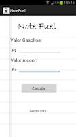 Screenshot of Note Fuel - Ethanol x Gas