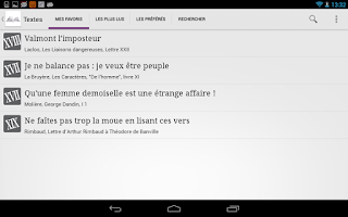 Screenshot of Un Texte Un Jour