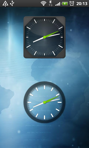 Clock Widget Pack Glass