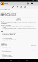 Screenshot of Resume Ready Lite